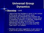 universal group dynamics14