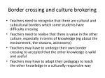 border crossing and culture brokering