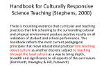 handbook for culturally responsive science teaching stephens 2000