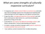 what are some strengths of culturally responsive curriculum