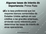 algunas tasas de inter s de importancia prime rate