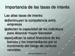 importancia de las tasas de inter s26