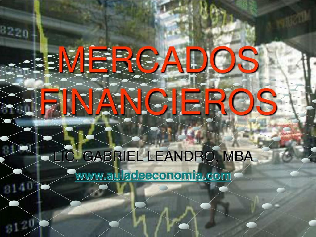 mercados financieros l.