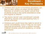 enrollment key provisions