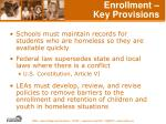 enrollment key provisions46