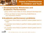 impact of homelessness on children and youth24