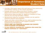 importance of homeless student data