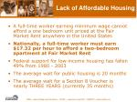 lack of affordable housing15