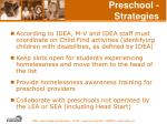 preschool strategies
