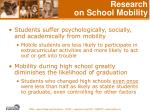 research on school mobility21