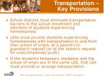 transportation key provisions