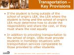 transportation key provisions48