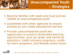 unaccompanied youth strategies58