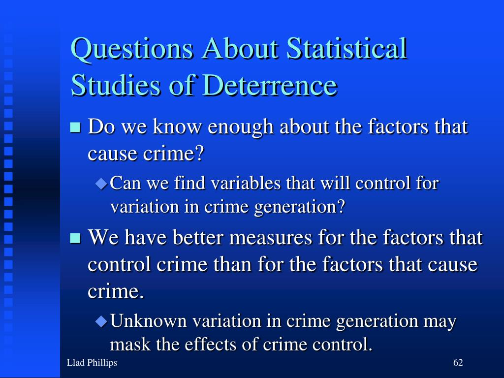 Questions About Statistical Studies of Deterrence