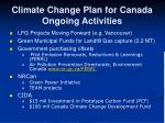 climate change plan for canada ongoing activities