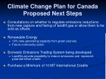 climate change plan for canada proposed next steps