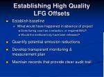 establishing high quality lfg offsets