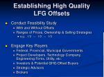 establishing high quality lfg offsets14