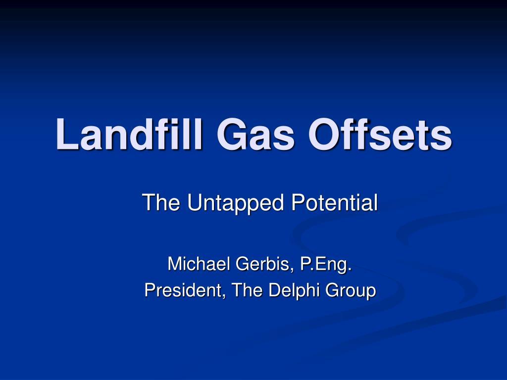 landfill gas offsets l.