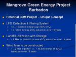 mangrove green energy project barbados