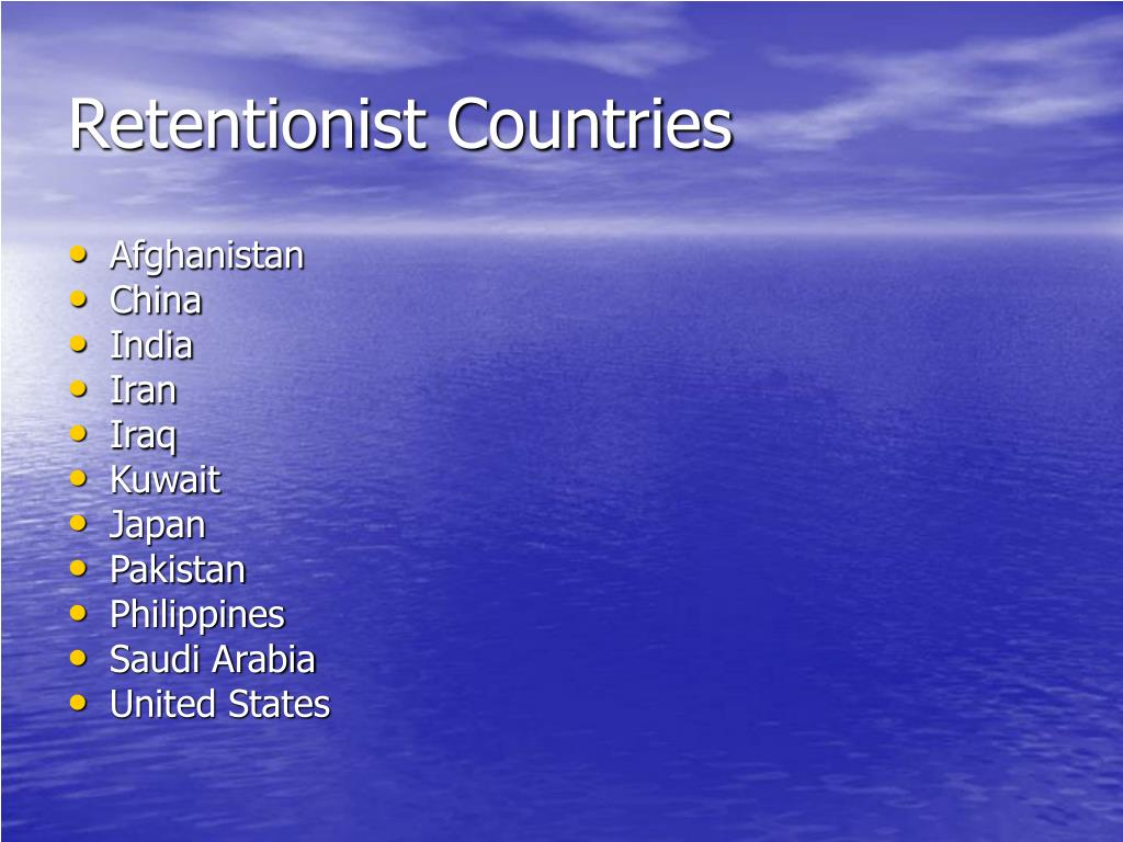 Retentionist Countries
