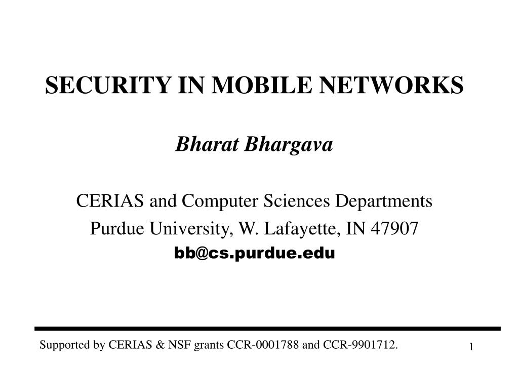 security in mobile networks l.