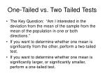 one tailed vs two tailed tests