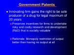 government patents