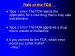 role of the fda27