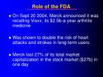 role of the fda28