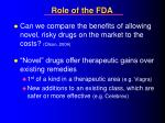 role of the fda29