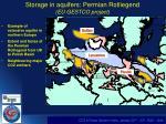 storage in aquifers permian rotliegend eu gestco project