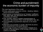 crime and punishment the economic burden of impunity