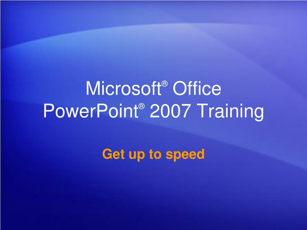 microsoft office powerpoint 2007 training l.