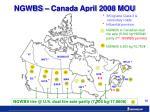 ngwbs canada april 2008 mou