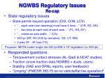 ngwbs regulatory issues re cap