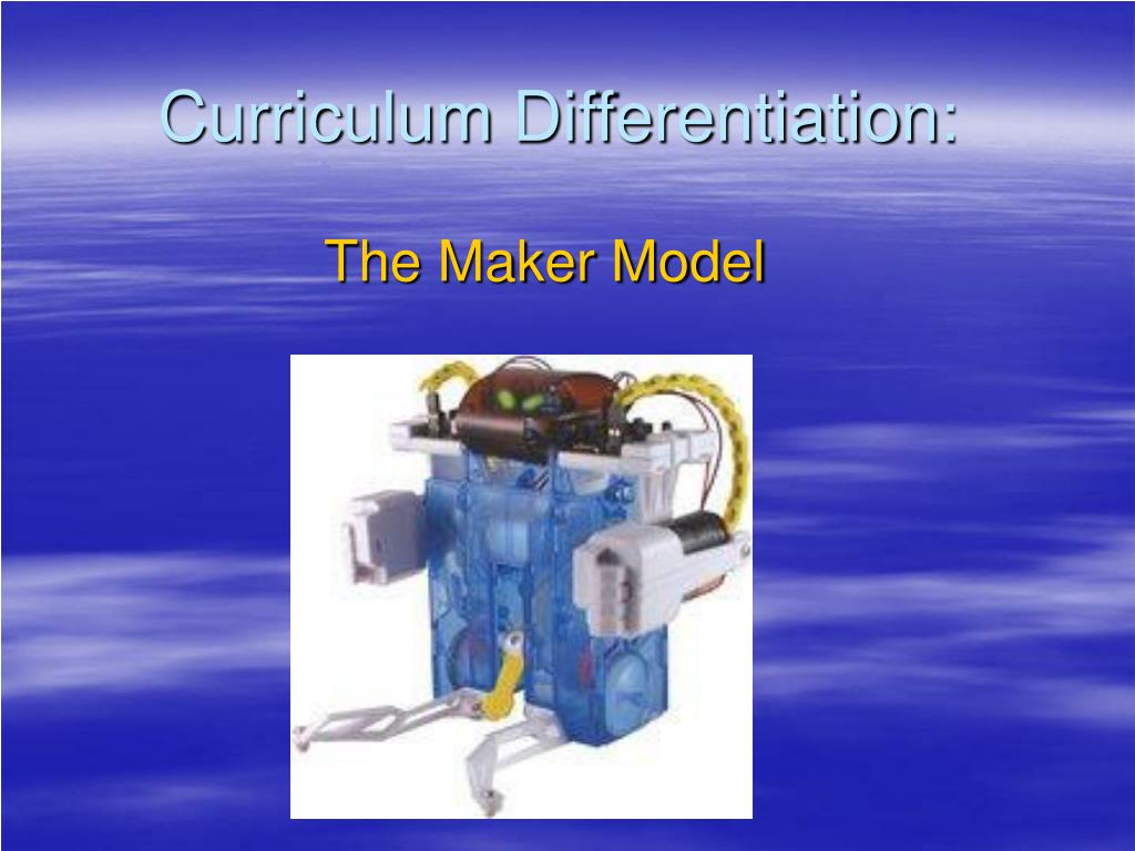 curriculum differentiation l.