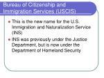 bureau of citizenship and immigration services uscis