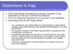 detentions in iraq