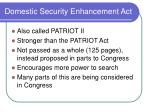 domestic security enhancement act