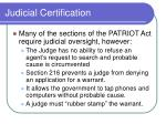 judicial certification