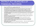 patriot act searches of financial records