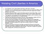 violating civil liberties in america