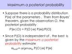 maximum a posteriori probability