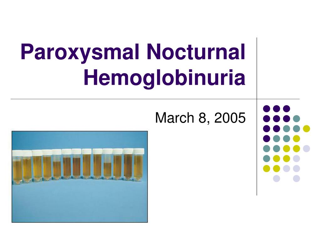 paroxysmal nocturnal hemoglobinuria l.
