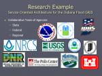 research example service oriented architecture for the indiana flood grid