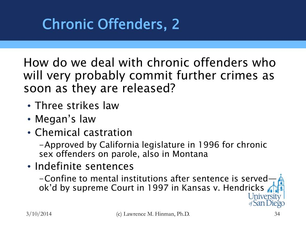 Chronic Offenders, 2