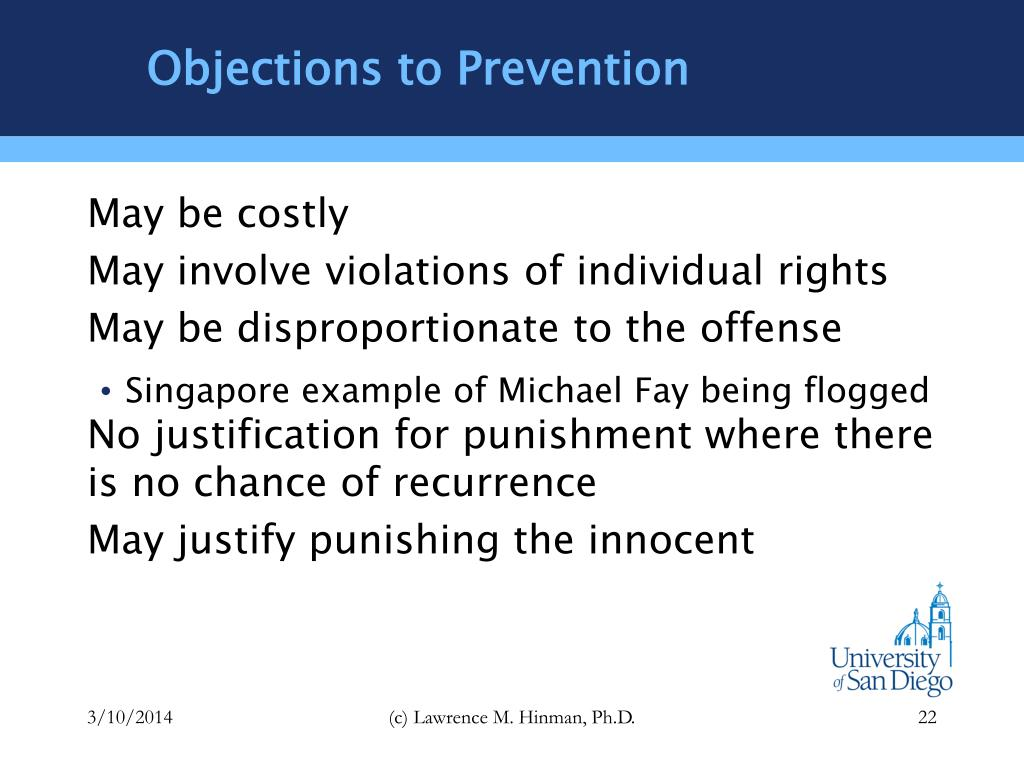Objections to Prevention