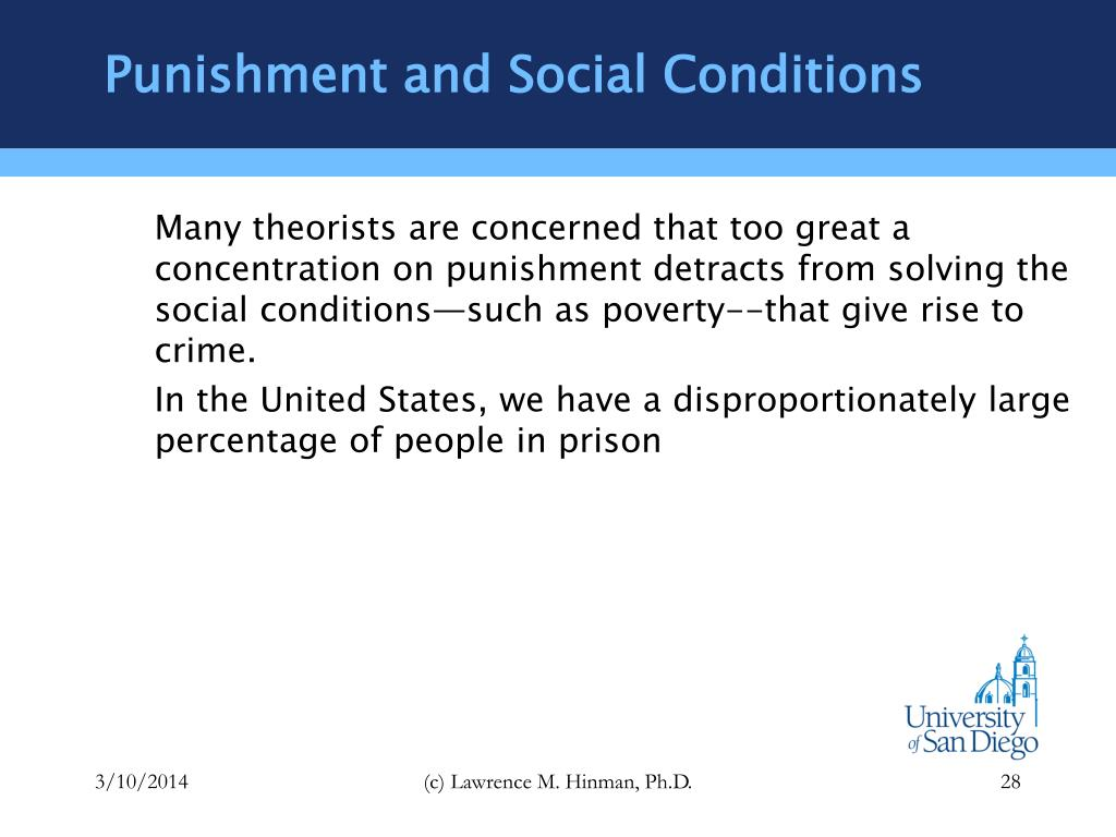 Punishment and Social Conditions