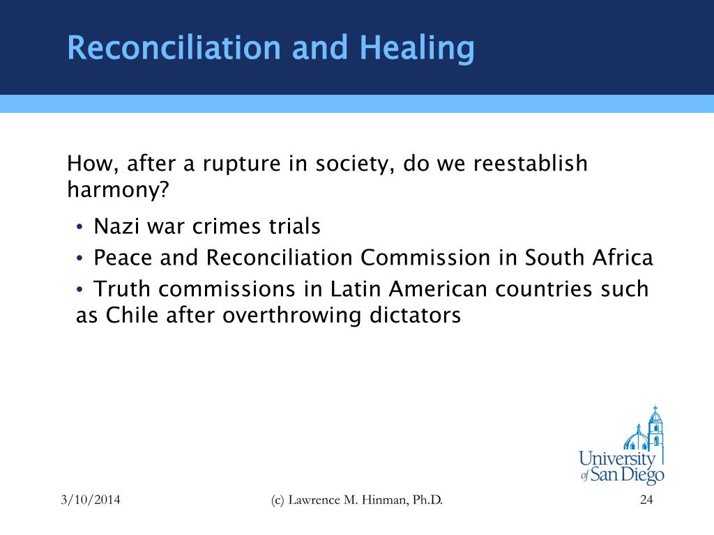 Reconciliation and Healing